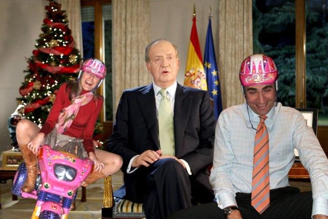 Discurso Navidad Rey con Herederos motoristas