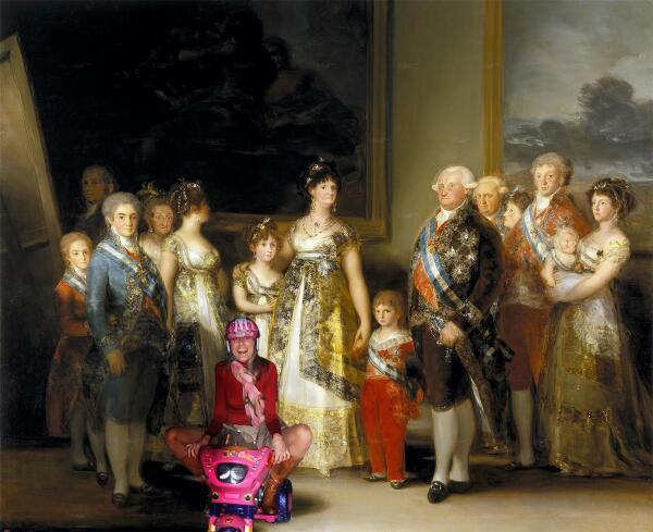 Rubén Caviedes incluye a Letizia Ortiz en un cuadro de Goya