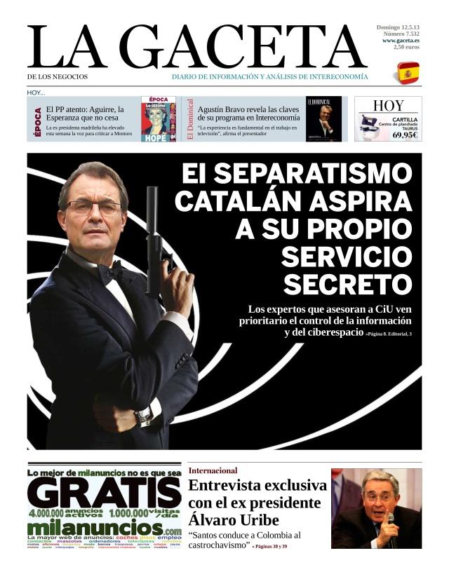 La Gaceta portada 12-05-2013
