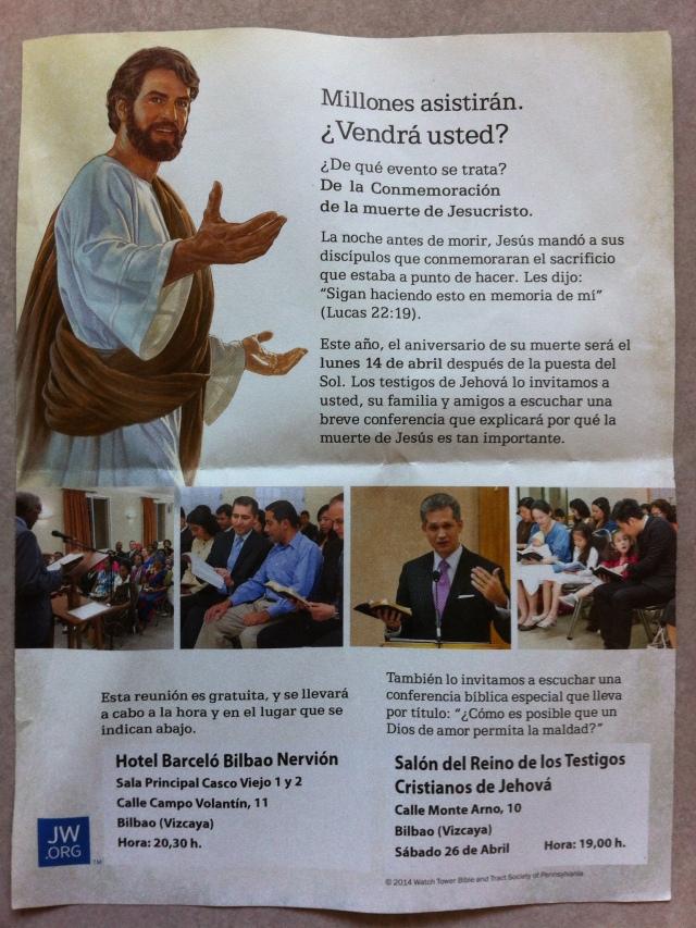 Los Testigos de Jehová te reclaman