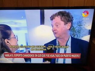 Experto canadiense asaltado en Puerto Madero entrevista